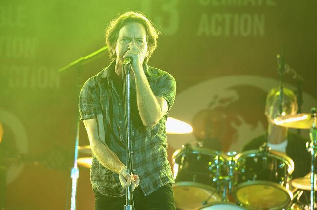 Eddie Vedder of Pearl Jam, 2015, Getty Images