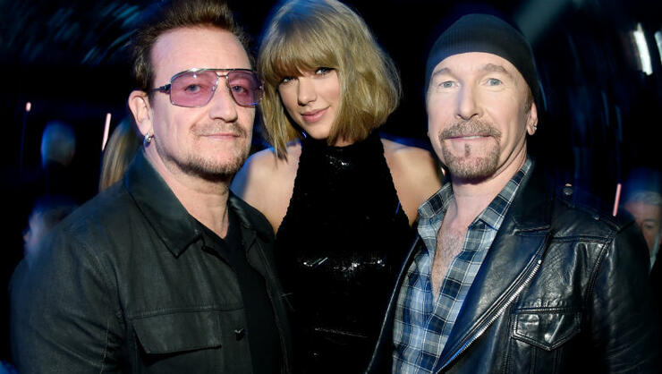 Taylor Swift Receives A Sweet Surprise From U2 Ahead Of Dublin