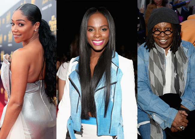 Tiffany Haddish, Tika Sumpter and Whoopi Goldberg - Getty Images