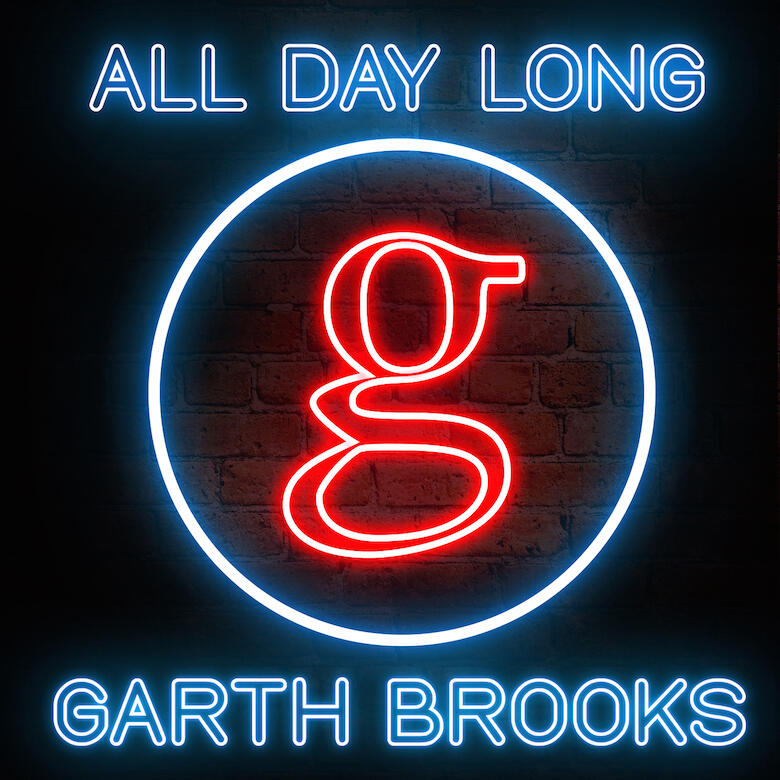 "Garth Brooks Single Cover Art ""All Day Long"""