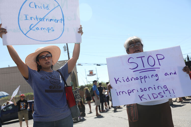 Protest Over The Separation Of Incarcerated Immigrant Families And Children Held In El Paso, Texas