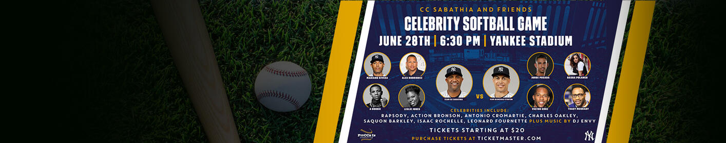 Win Tickets To CC Sabathia and Friends Celebrity Softball Game Fundraiser