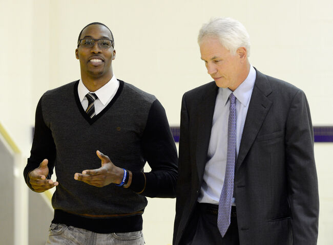 Dwight Howard and Mitch Kupchak