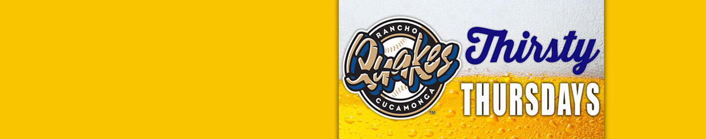 It's Thirsty Thursday this Week as the Quakes Take on the Giants!
