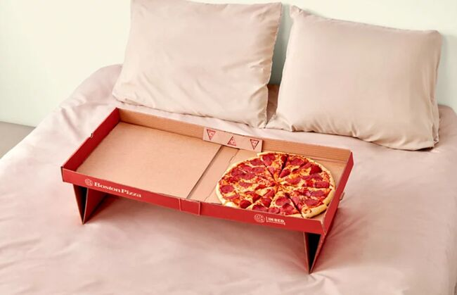 Pizza in bed