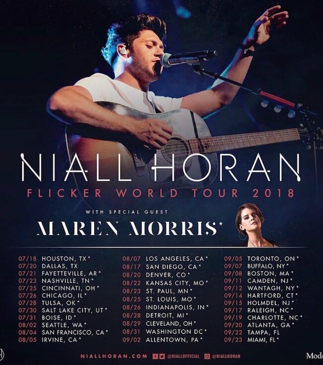 Niall Horan Flicker World Tour Dates