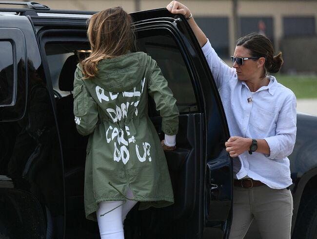 """Melania Trump """"I really don't care, do you?"""" jacket"""