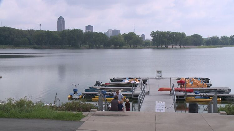 Gray's Lake in Des Moines. Photo WHO TV