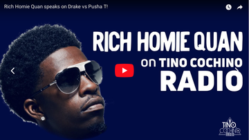 Tino Cochino Radio - Rich Homie Quan speaks on Drake vs Pusha T!