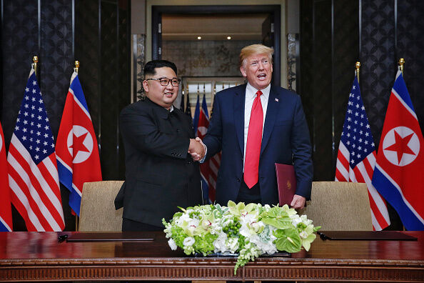 KIM JONG UN AND PRESIDENT TRUMP-GETTY IMAGES