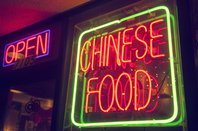 Chinese Food Sign Getty RF