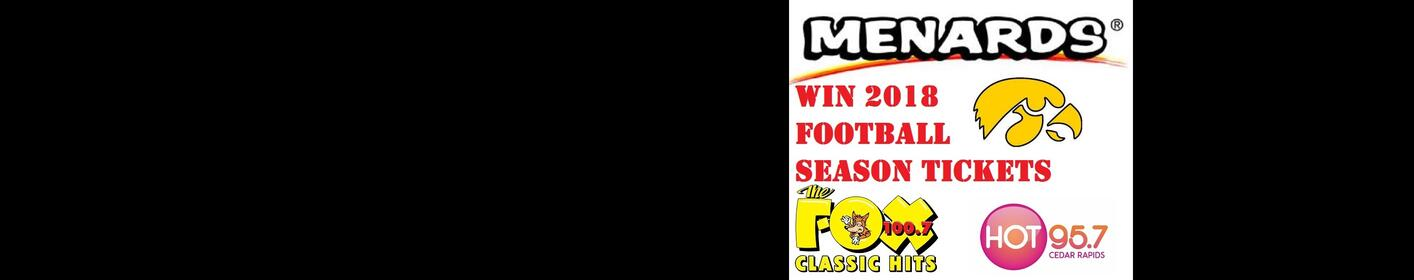 WIN IOWA FOOTBALL SEASON TICKETS AT MENARDS