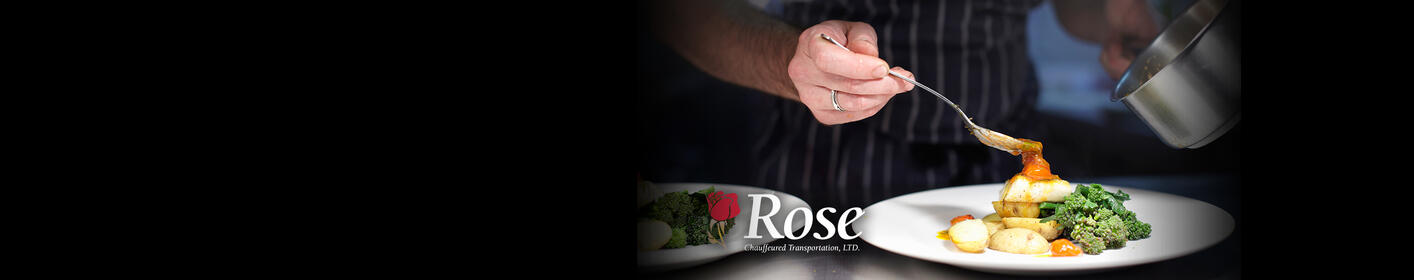 Ride to Dinner in Style with Rose Chauffeured Transportation