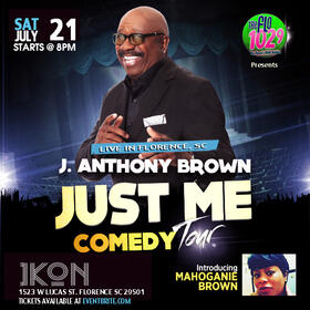 See J Anthony Brown at Club Ikon! It's the Just Me Comedy Tour!