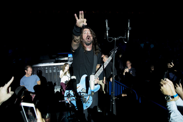Dave Grohl @ The iHeartRadio Foo FAnthem Show at The Anthem on October 11 2017, Tasos Katopodis/Getty Images