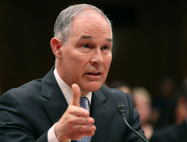 EPA Administrator Scott Pruitt, testifies during a Senate Appropriations Subcommittee hearing on Capitol Hill, May 16, 2018 in Washington, DC. The Subcommittee is hearing testimony on the proposed budget estimates for FY2019 for the Environmental Protection Agency. (Photo by Mark Wilson/Getty Images)