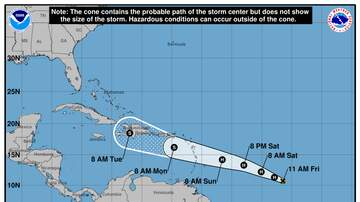 Operation Stormwatch - Hurricane Beryl Strengthens As It Heads Toward The Caribbean