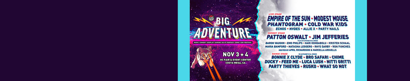 Win Passes To ALT 98.7 Presents BIG ADVENTURE!