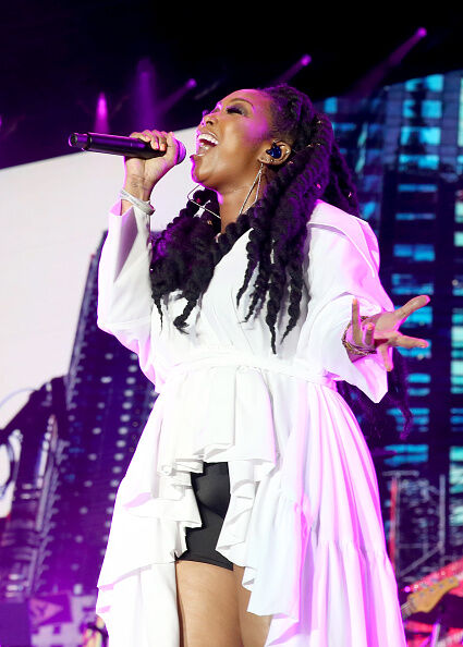 """The SONG is mine"" Brandy sings during an Essence Fest performance."
