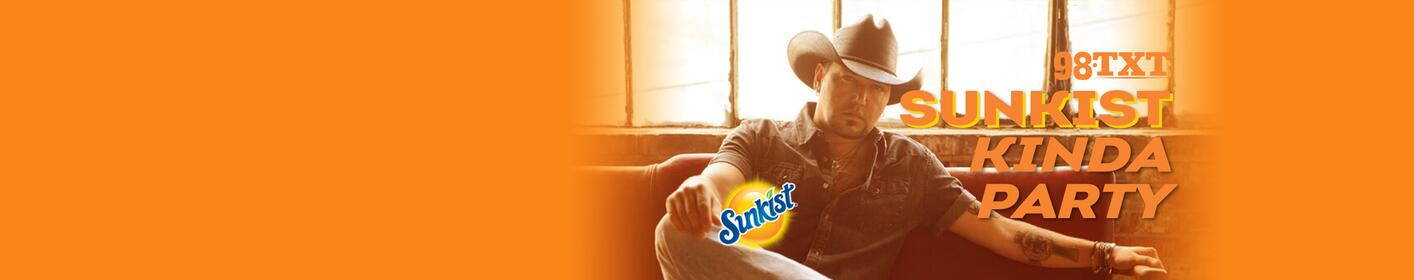 Win tickets to Jason Aldean at the Tuscaloosa Amphitheater, tanning package, lots of ice cold Sunkist and more!