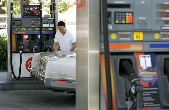 gas prices rise slightly
