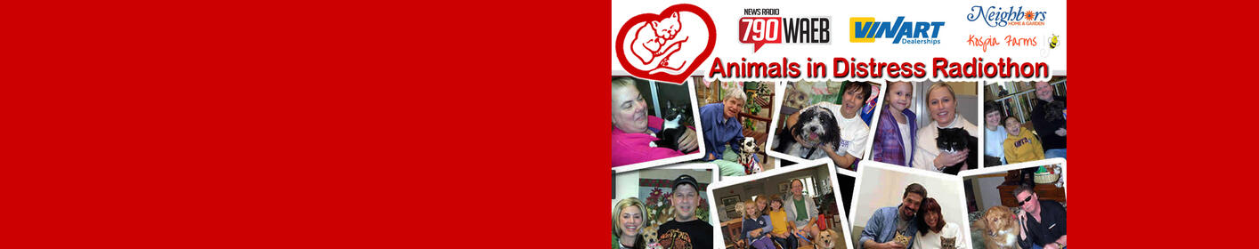 The WAEB Radiothon running July 16 - 22! Benefits: Animals in Distress Shelter