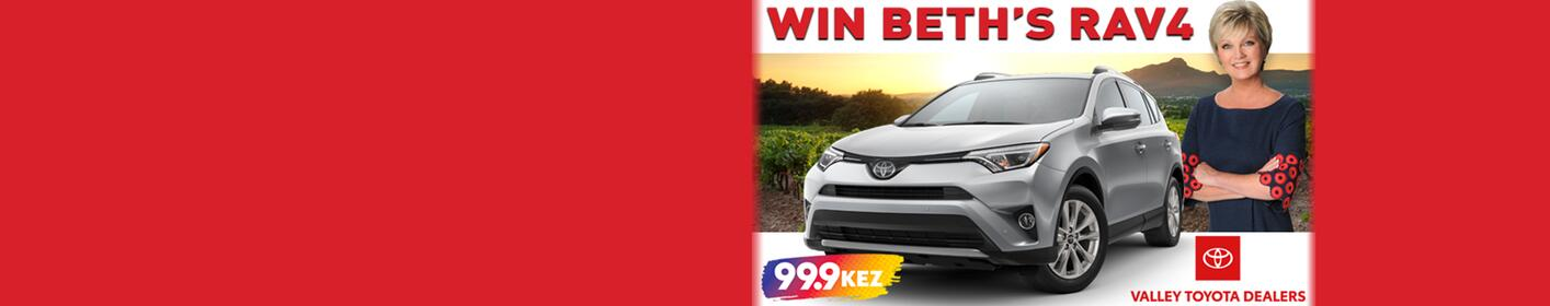 Enter to win Beth's RAV4 from Valley Toyota Dealers