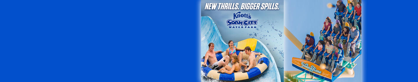 Enter now for your chance to win a 4-pack of tix to Knott's Berry Farm & Soak City!