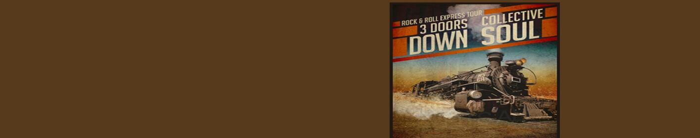 Win tickets to the Rock & Roll Express Show with 3 Doors Dowjn & Collective Soul July 28th at Riverside Casino