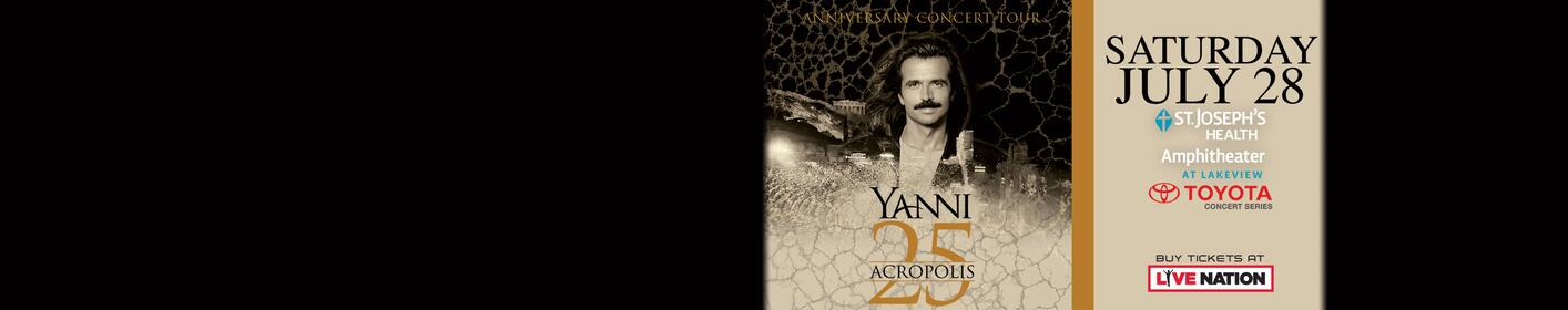 Win reserved seat tickets to Yanni!