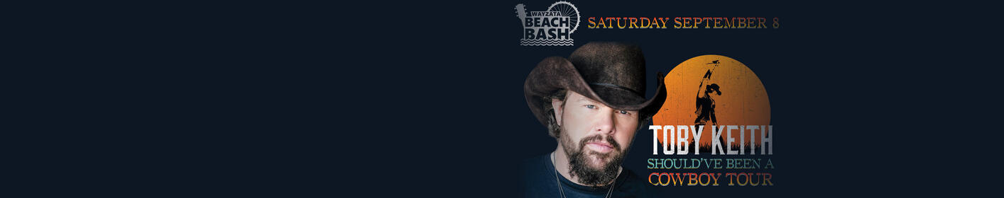 JUST ANNOUNCED: Toby Keith at Wayzata Beach Bash