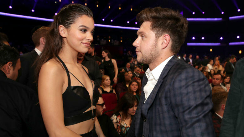niall horan hailee steinfeld make rare public appearance. Black Bedroom Furniture Sets. Home Design Ideas
