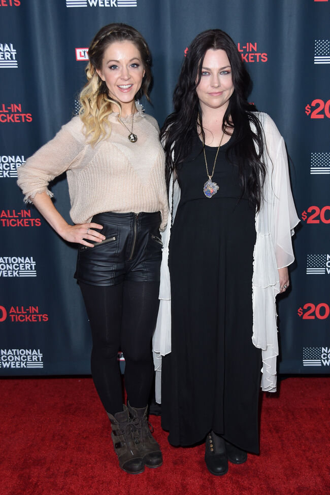 Amy Lee & Lindsy Stirling - Getty Images