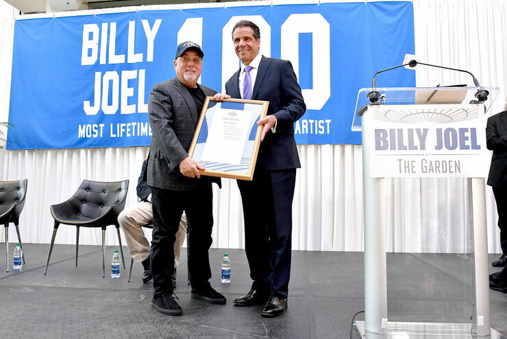 NY Gov. Cuomo Presents 'Billy Joel Day' Proclamation at MSG