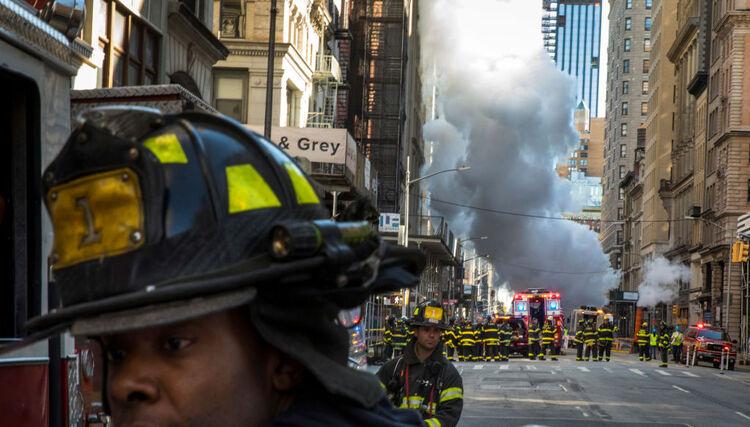 Pipe Explodes in Flatiron District