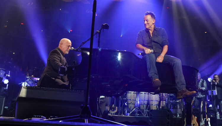 """See Billy Joel, Bruce Springsteen Perform """"Born to Run"""" in New York"""