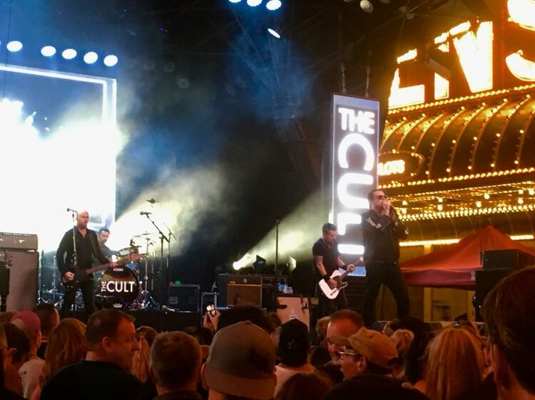 A free concert with The Cult outside of the hotel I was staying at in Vegas...