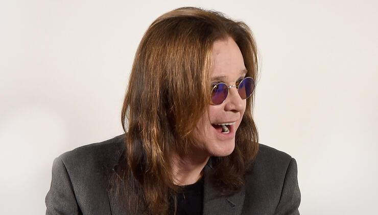 Ozzy Osbourne Tries Beating the Heat With a Truckload of Ice
