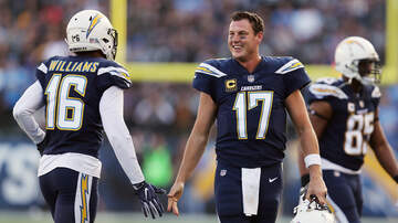 THE MARK and RICH SHOW - Watch: Philip Rivers plays catch with his family post-game