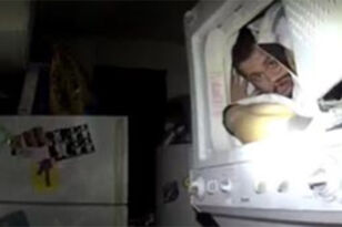 Police Dog Finds Suspect Hiding In A Dryer