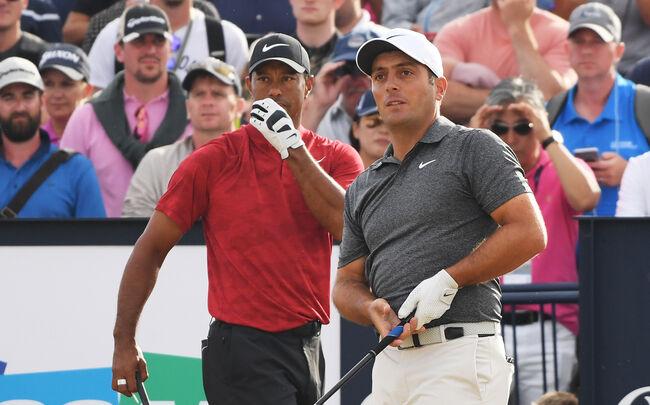 Tiger Woods couldn't intimidate eventual Open champion Francesco Molinari
