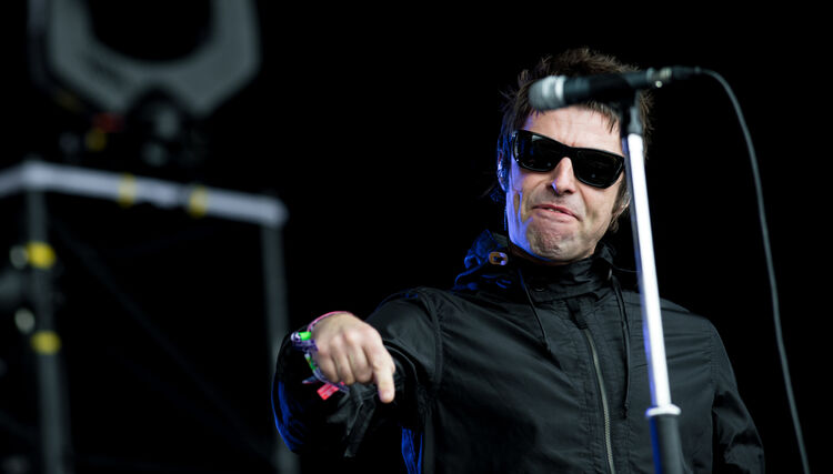Watch Liam Gallagher React to a Fish Being Thrown on Stage