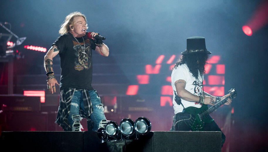 guns n 39 roses breaks swedish concert attendance record set by metallica iheartradio. Black Bedroom Furniture Sets. Home Design Ideas