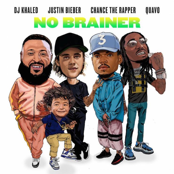 "DJ Khaled, Justin Bieber, Chance The Rapper, Quavo - ""No Brainer"""