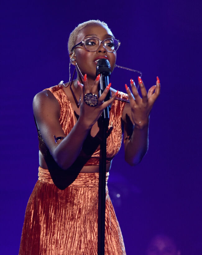 "Leah performs on ""The Four"""