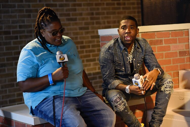 Auntie Rita and YFN Lucci Backstage on The Porch at WGCI Summer Jam!