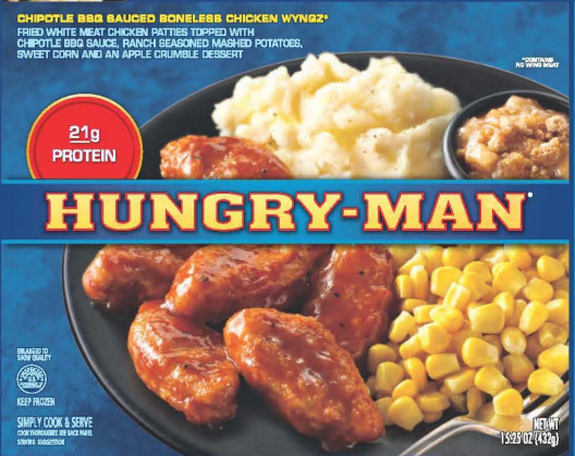 hungry man dinners recalled