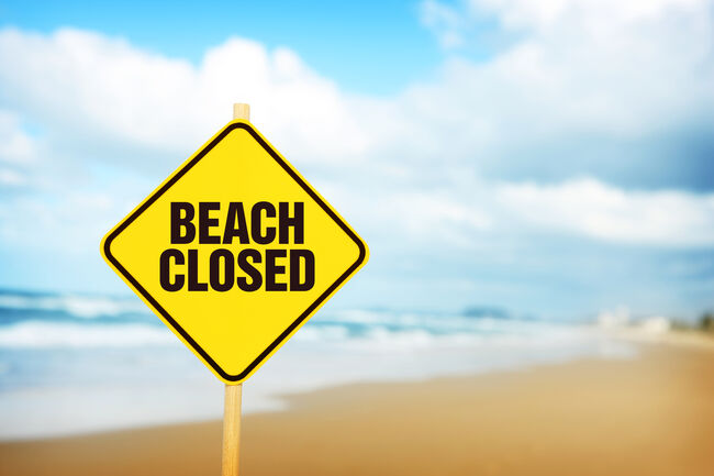 Beach Closed Getty RF
