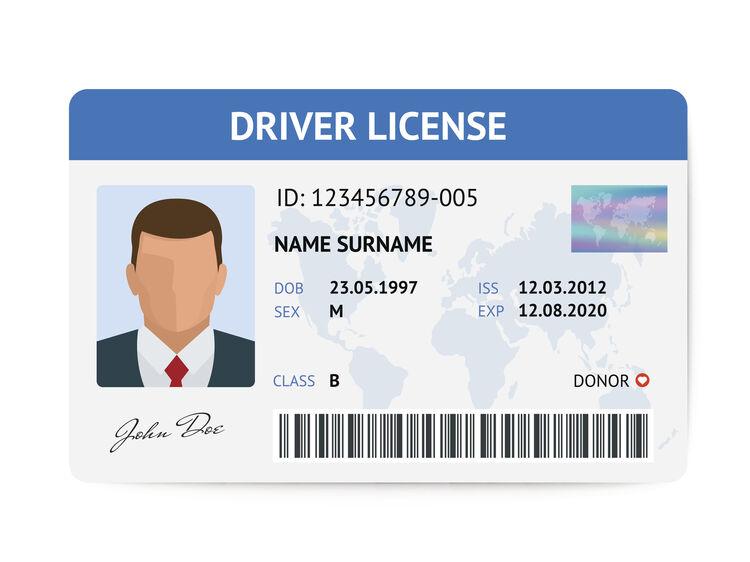 Driver License Getty RF