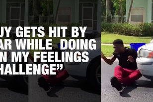 Guy Gets Hit By Car While Doing 'In My Feelings Challenge'